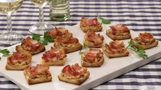 Bacon - Tomaten - Frischkäse Häppchen