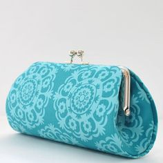 Esther in Teal, Large Clutch Purse