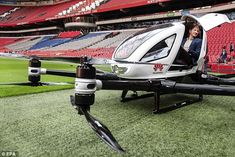 Dutch Prince flies into Amsterdam Arena in high-tec autonomous drone-taxi -  The Ehang 216 aerial drone-taxi has been described as small safe and green  Its Chinese backers say it offers 'a short distance transportation solution'  It comes with fully-automated navigation and can reach speeds of up to 62 mph  Advances in electric motors battery technology and autonomous software has triggered an explosion in the field of electric air taxis  By Alastair Tancred For Mailonline  Published: 17:35…