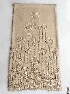 Gestrickter Lace Schal Merino wolle Lace Schal gestrickte von foldi