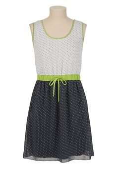 Contrast Waist Polka Dot Tank Dress available at #Maurices
