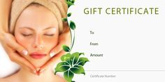 Spa Gift Certificate Template | Spa Delights