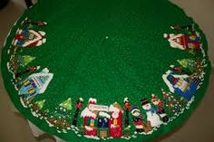 Imagen relacionada Christmas Crafts, Merry Christmas, Christmas Decorations, Holiday Decor, Tree Skirts, December, Christmas Quilting, Seasons, Quilts