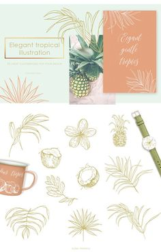 Tropical illustrations and patterns by Pamyatka Shop on @creativemarket
