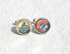 Batman Cuff links Dark Knight Cufflinks recycled by SUPERSOCK, $21.00