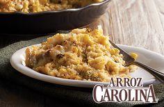 Prueba la Cazuela Santa Fe con nuestra mezcla de #Arroz con Brócoli y Queso Carolina®.