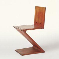 Gerrit Rietveld designed the Zig-Zag Chair in 1934