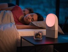 Aura Connected Alarm Clock by Withings Turn your #alarmclock into a stylish #lamp!
