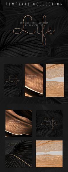 Summer Deco, Monstera Leaves, Leaf Texture, Leaf Background, Social Media Template, Design Set, Metallic Gold, Image Boards, Editorial Design