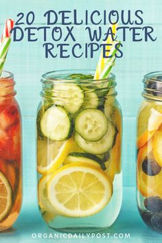 If you've ever been dehydrated, you know just how essential it is to drink more water for your health. Water alone is good, but there are things you can add to your water to give your body a boost and help flush unwanted toxins - and these fruit-inf