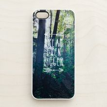 Inspirational Woodland iPhone 5 Case 4 4S Quote Dream Big