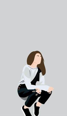 By:Andin Rahma aulia Cute Girl Wallpaper, Cute Wallpaper Backgrounds, Of Wallpaper, Cute Wallpapers, People Illustration, Illustration Girl, Digital Illustration, Wattpad Cover Template, Wattpad Book Covers