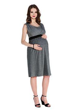 My Tummy Womens Maternity Nursing Dress Kelly Heather Grey CharcoalM Medium     Visit the image. Těhotenské ... 055b4a71e6