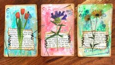 A process video on how I create my altered playing cards using gesso and gelato crayons. Craft with me and create your own fun additions for y. Cool Diy Projects, Craft Projects, Playing Card Crafts, Art Trading Cards, Deck Of Cards, Card Deck, Atc Cards, Index Cards, Scrapbook Journal
