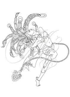 Dancing Shiva Digital Coloring Page