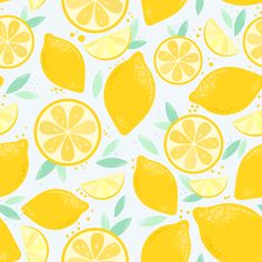 Sunny and juicy seamless pattern with yellow lemons for your bright mood! For you: - 14 wonderful patterns in EPS format - 1 appetizing illustration with lemon and watermelon Watermelon And Lemon, Watermelon Art, Summer Patterns, Cool Patterns, Surface Pattern Design, Pattern Art, Lemon Background, Watermelon Illustration, Inspiration Artistique