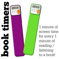 Printable Summer Schedule. Book timer. One minute of TV for every minute of book reading.