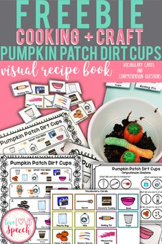 This FREEBIE will allow your students to easily follow and make Pumpkin Patch Dirt Cups. It is perfect for incorporating cooking into classroom lessons and group sessions. Your Preschool, Kindergarten, 1st, 2nd, 3rd, 4th, 5th grade, middle school, and life skills students will love this. You will receive 1 Page of Step by Step Visual Directions for this recipe Comprehension Questions, and Vocabulary Cards.