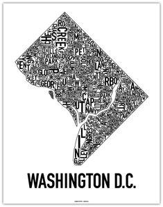 Ork Poster - neighborhood maps of DC