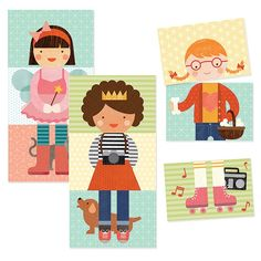 | Petit Collage | Little Miss Dress Up Mix and Match |