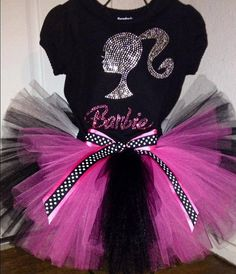 Rhinestone Barbie Birthday Tutu Outfit or Set sizes 12months to 7girls on Etsy, $54.00