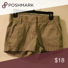 """J. Crew Chino Shorts Excellent used condition army green shorts. 3"""" inseam. Size 0. J. Crew Shorts"""