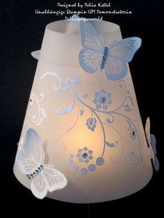 Vellum Stampin Up - Mozilla Yahoo Image Search Results Paper Lampshade, Lampshades, Bedside Lamps Shades, Wine Glass Candle Holder, Parchment Cards, Wine Glass Crafts, Candle Shades, Light Crafts, Diy Clay