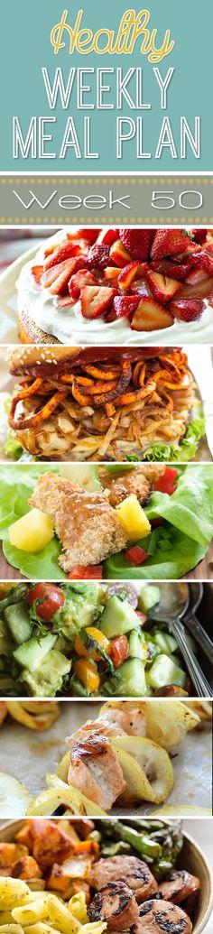 Healthy Weekly Meal Plan #50 - Recipe Runner                                                                                                                                                     More