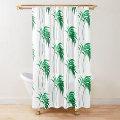 'Palm trees Everywhere' Shower Curtain by EllenBeb Bathroom Bath, Beach Travel, Palms, Home Deco, Palm Trees, Design Art, Exotic, Sunshine, Cocktail
