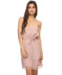 Chantilly Lace Trimmed Dress