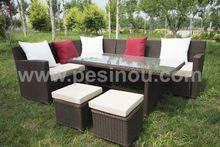 pe rattan garden sofa/outdoor wicker rattan garden sofa/wicker rattan sofa for…