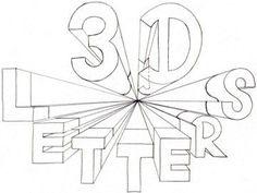 Comment dessiner les lettres 3D un point perspective 2840