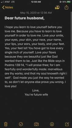 This is for a Dear Future Husband journal. This is just a little inspiration for what you can write in it. This all came from my heart while I was laying in bed. Future Husband Quotes, Prayers For My Husband, To My Future Husband, Future Love Quotes, Husband Prayer, Fact Quotes, Mood Quotes, Life Quotes, Love Quotes For Boyfriend