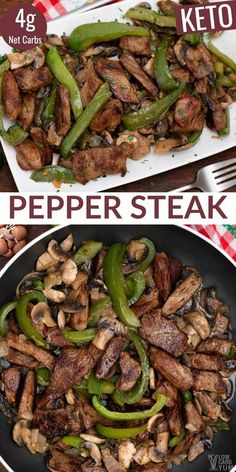 Meat Recipes, Low Carb Recipes, Dinner Recipes, Cooking Recipes, Healthy Recipes, Salad Recipes, Recipies, Pepper Steak, Beef Stir Fry