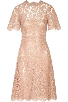 Valentino - Cotton-blend lace dress 07970feea5