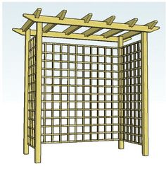 Arbor Trellis Designs | Copyright image: A pergola arch that can be made into a seated arbour.