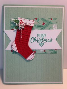 Hang Your Stocking, Christmas Card, Stampin' Up!, Handmade Cards, Rubber Stamping