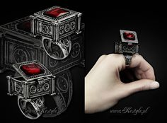 Gothic 'Sarcophagus Ring' designed by me for www.Restyle.pl  #gothic #goth #victorian #steampunk #jewelry #fashion #skull #rose #iron gate #cat skull #bat skull #moth #vampire #aristocrat #gothic lolita #lolita #elegant gothic aristocrat #gothic architecture #ring #gothicjewelry #gothjewelry #darkjewelry #horrorjewelry