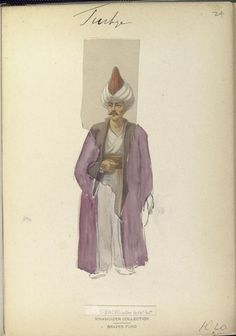 Saddler of the orta. The Vinkhuijzen collection of military uniforms / Turkey, See McLean's Turkish Army of Turkish Military, Turkish Army, Military Costumes, Military Uniforms, Napoleonic Wars, Ottoman Empire, New York Public Library, Ottomans, Oriental