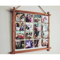 1. Faça um varal de fotos@jessiebeanvibesx/Instagram2. Organize as fotos em um formato divertido@kharpentier/Instagram3. Pendure as fotos junto com folhinhas secas@naranstyle/Instagram4. Arrume quadrinhos com molduras coloridas@quent