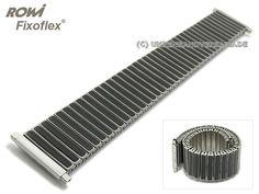 f4fcdace92530 Watch Straps · Uhrenarmband Fixoflex S Zugband Teleskop-Anstoß 20-25mm  Edelstahl/Keramik bicolor stahl/