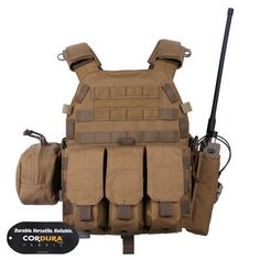Emerson Tactical Modular LBT-6094A Plate Carrier Vest w/Pouches Coyote Brown