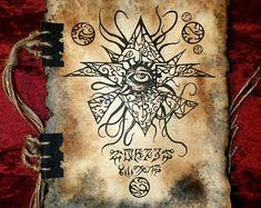 Items similar to CHAOS SORCERER cthulhu larp Necronomicon Fragment occult magick on Etsy Larp, Necronomicon Lovecraft, Lovecraft Cthulhu, Dnd Dragons, Beautiful Dark Art, Satanic Art, Call Of Cthulhu, Occult Art, Demonology