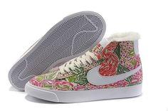 release date: 2b1e3 caaad Cheap 403729-102 Nike Blazer MID fur red flower white women shoes White  Women,