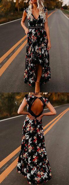 New dress boho prom open backs Ideas Trendy Dresses, Cute Dresses, Fashion Dresses, Cute Outfits, Summer Dresses, Sweater Weather, Open Back Maxi Dress, Boho Dress, Dress To Impress