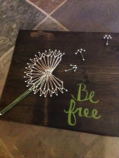 Be Free Dandelion String Art / Pissenlit en fil tendu Cute Crafts, Crafts To Do, Arts And Crafts, Diy Projects To Try, Art Projects, Do It Yourself Projects, Creation Deco, Ideias Diy, Crafty Craft
