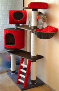 Red cat tower