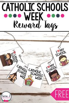 Celebrate Catholic Schools Week by handing out these adorable reward tags. Students can proudly display them on their reward tag necklaces and show their support for Catholic schools. 2nd Grade Teacher, Teaching First Grade, Help Teaching, Teaching Kindergarten, Classroom Rewards, Classroom Freebies, School Classroom, Classroom Ideas, Catholic Schools Week