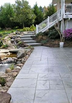 Stamped Concrete Instead of Slate - Elements of Style