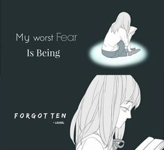 Even if I am...I won't forget them